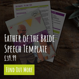 Father of the Bride Speech Template