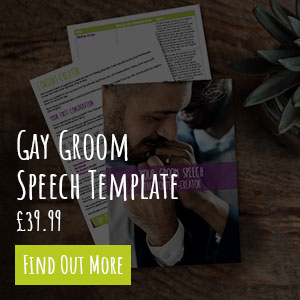 gay groom speech template