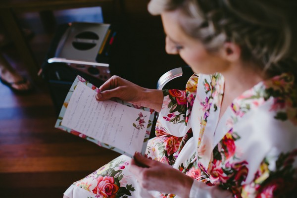 Letter to bride