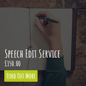 Wedding Speech Edit Service
