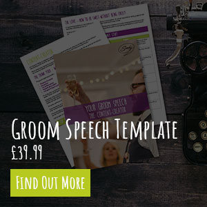 Groom Speech Template