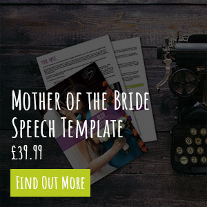 Mother of the Bride Speech Template