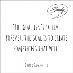 Eulogy Quote - Chuck Palahniuk