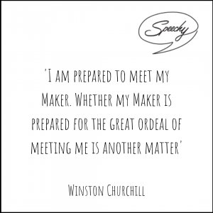 Eulogy Quote, Winston Churchill