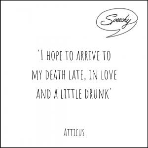 Eulogy Quote, Atticus