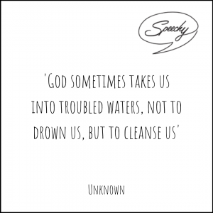 Eulogy quote troubled waters