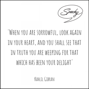 Eulogy quote sorrow and truth